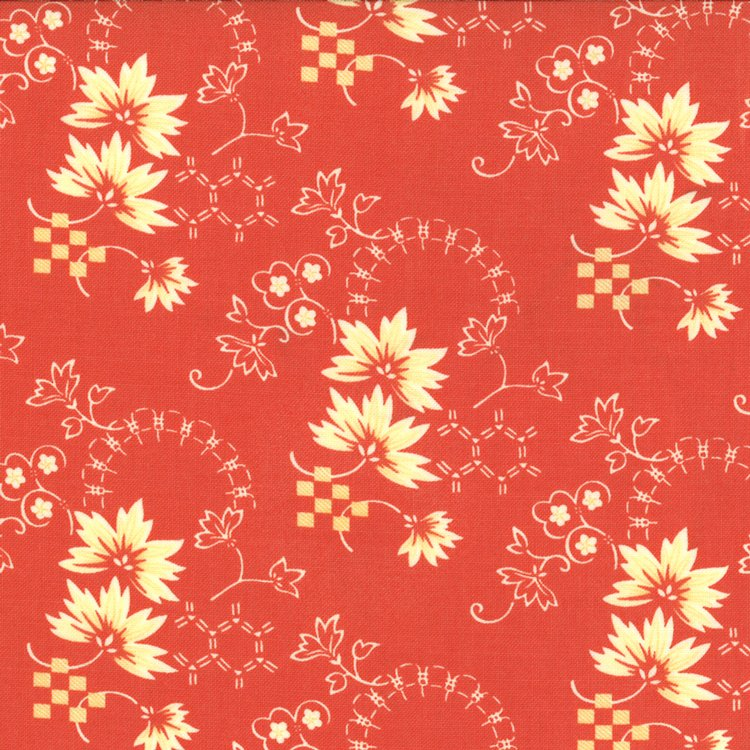 Tapestry - Leaves - Coral Red