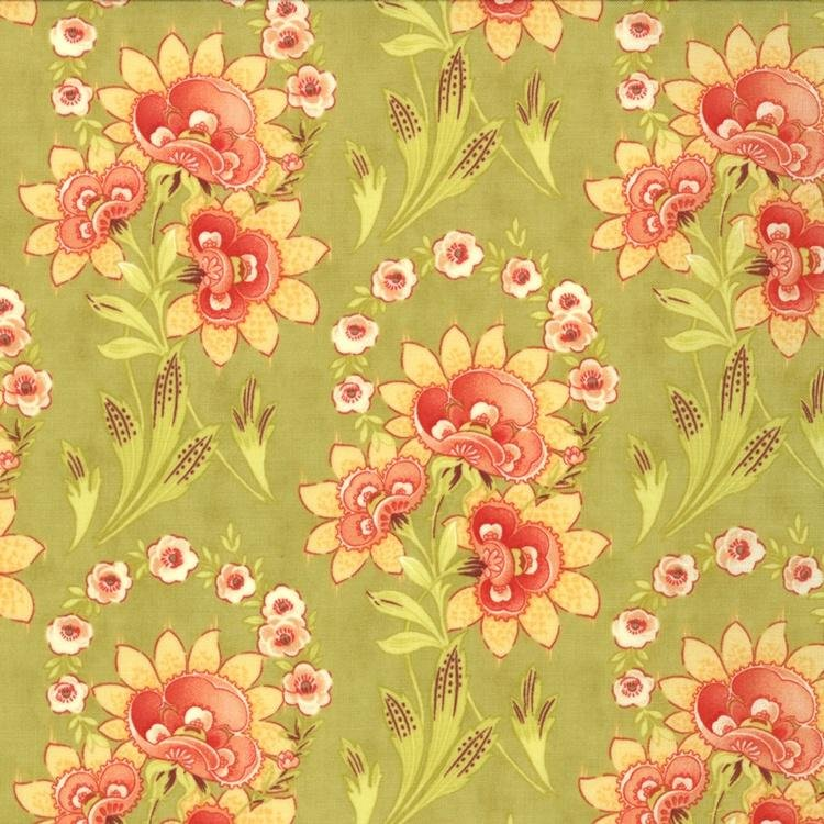 Tapestry - Large Floral - Green
