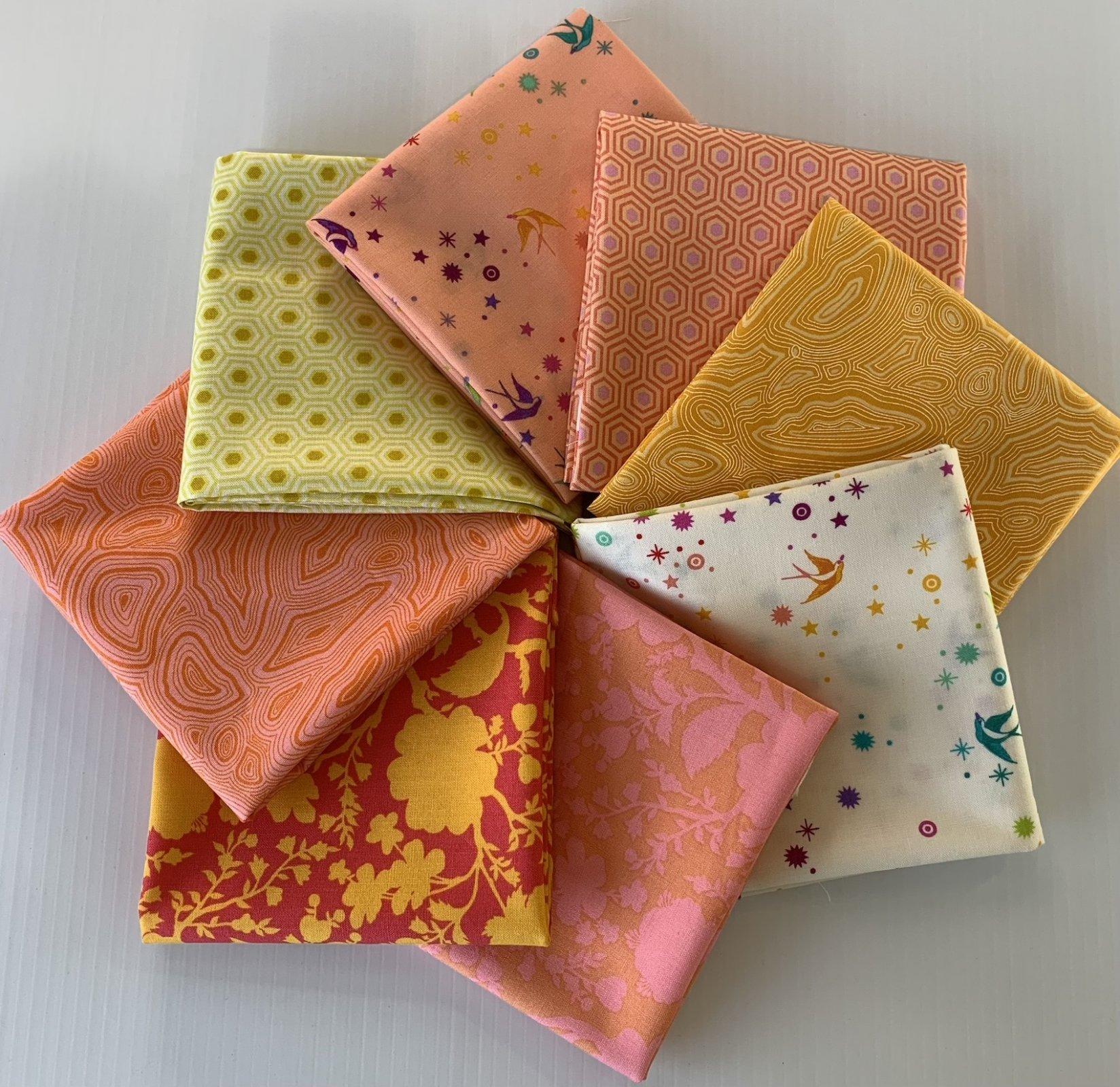 True Colors Fat Quarter Pack Orange/Yellow