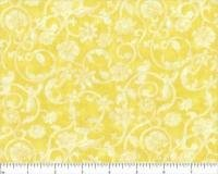 Tonal Scroll Yellow Quilt Backing 108 wide