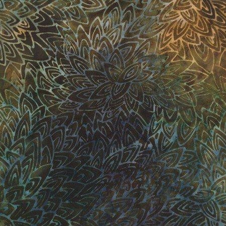 Tonga Batiks - Feathers - Cocoa