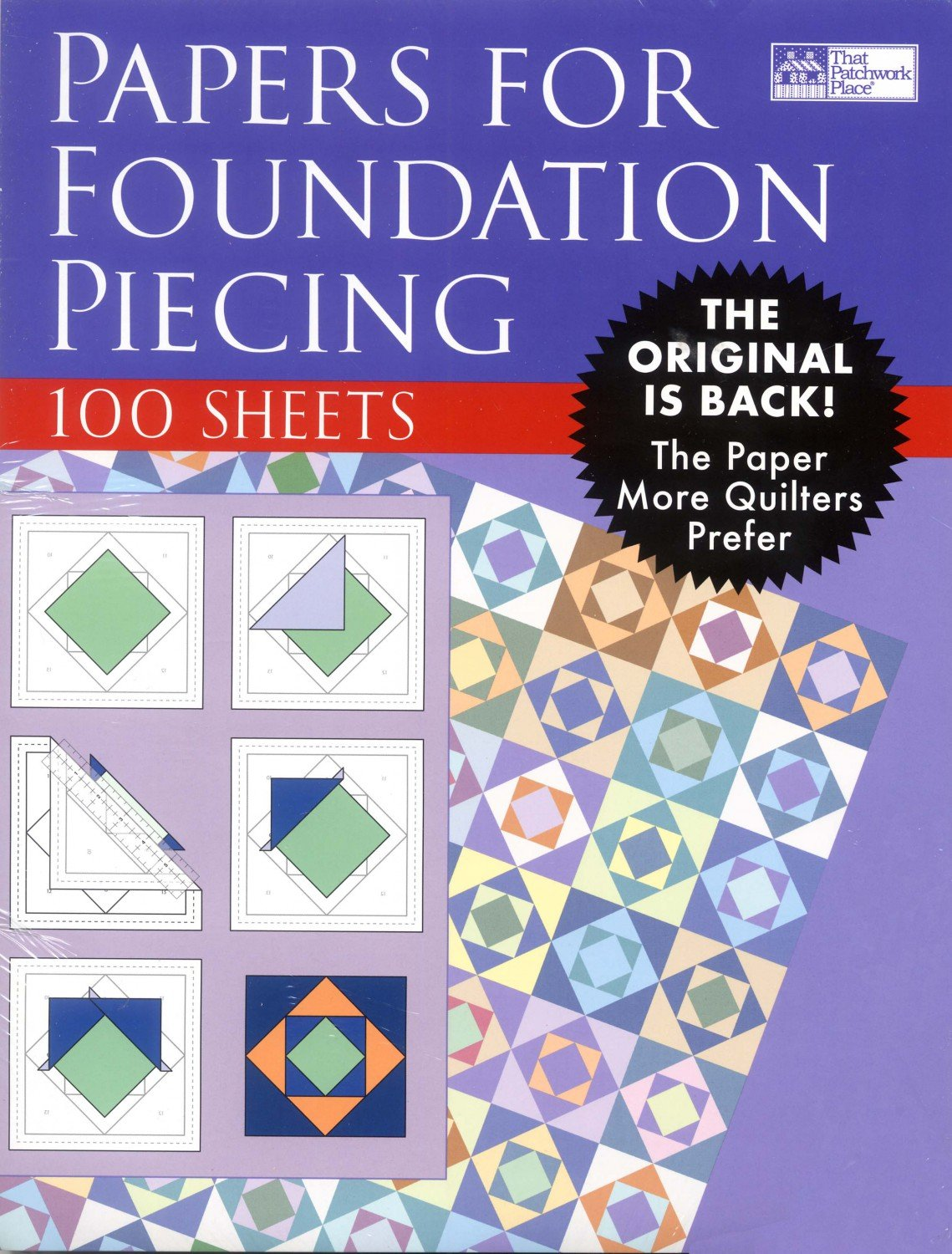 Papers for Foundation Piecing - 100 Sheets