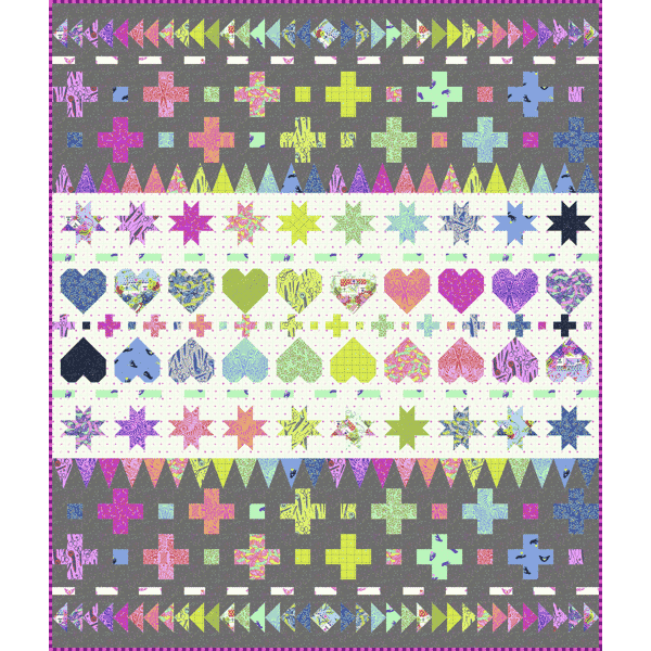 Tula Pink - Decorative Stitches Quilt Pattern