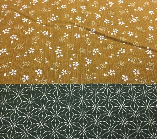 Japanese Two Tone Mustard and Green