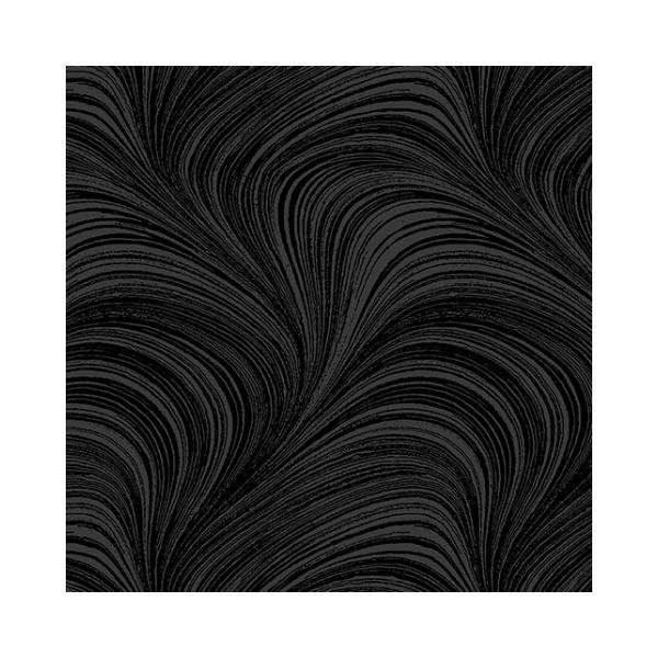 Wave Texture - Black - 108 Wide