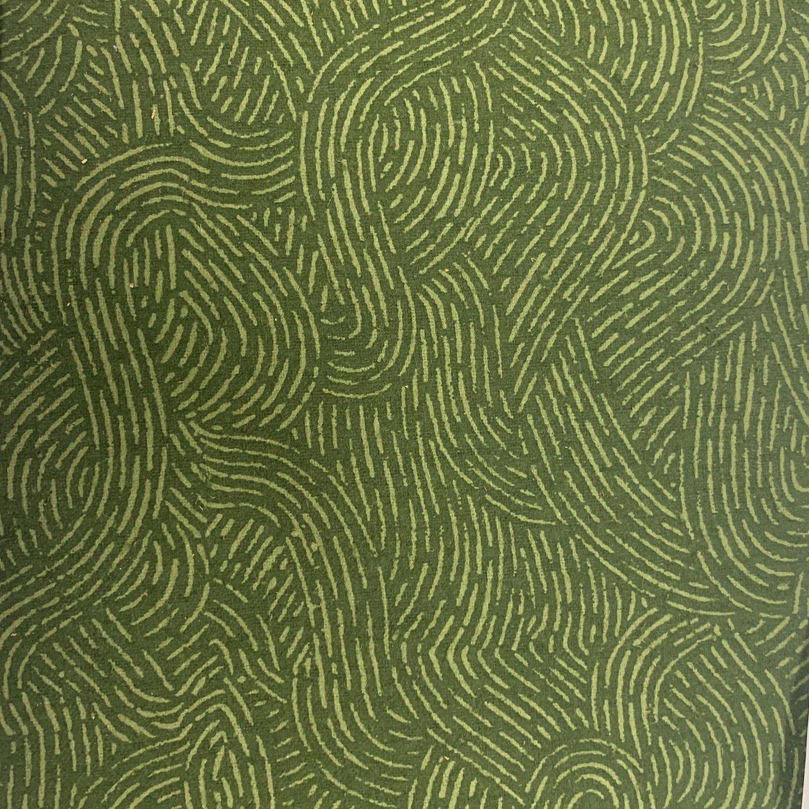 Flannel Pre-Cut - 3M - Wave Movement - Green