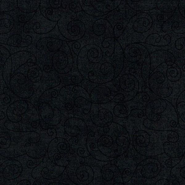 Willow - Scroll - Black - 108 Wide