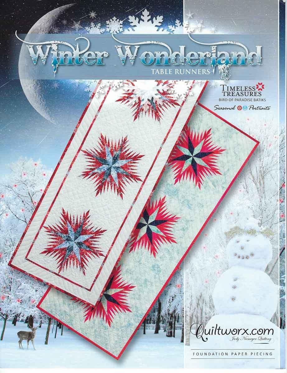 Winter Wonderland Snowflakes Table Runner Pattern