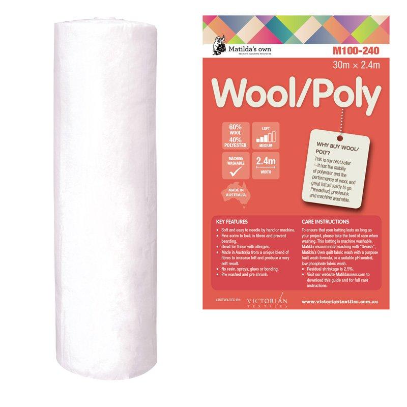 Wool/Poly Wadding