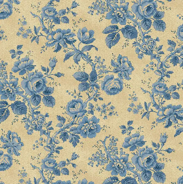 Historical Quilt Backs - Blue Rose - 108