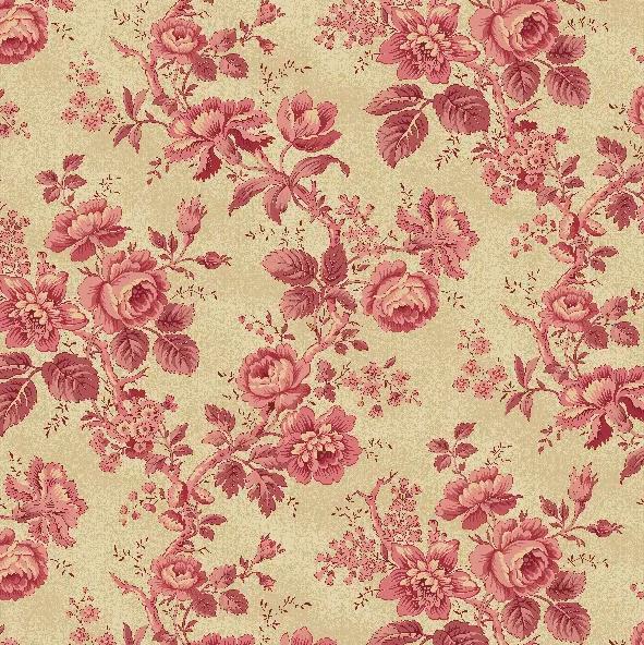Historical Quilt Backs - Pink Rose - 108