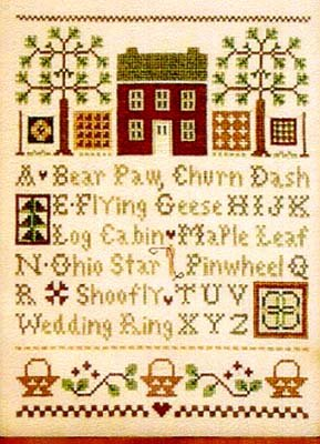 Quilt Time Sampler counted cross stitch pattern