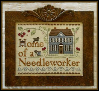 Home of a Needleworker counted cross stitch pattern