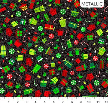 Christmas Magic by Patrick Lose for Northcott Packages Black # 10030M-99