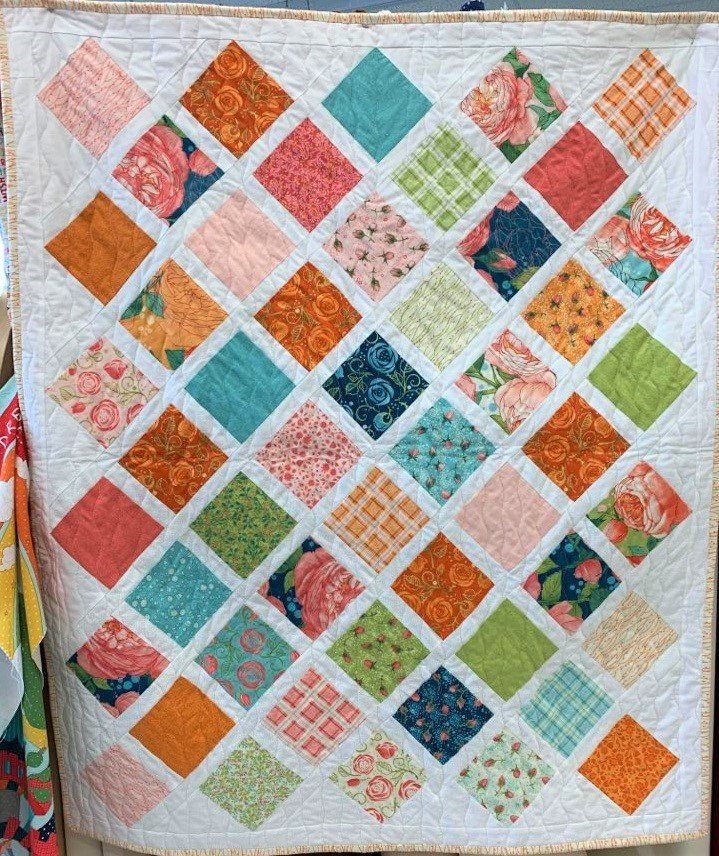 Abby Rose Lattice Baby Quilt Kit