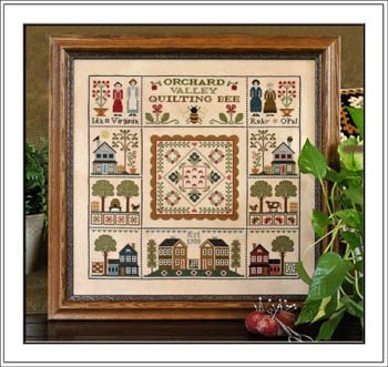 Orchard Valley Quilting Bee counted cross stitch pattern