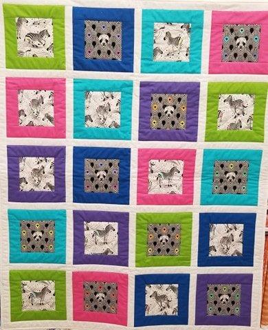 Zebras & Pandas Baby Quilt Kit