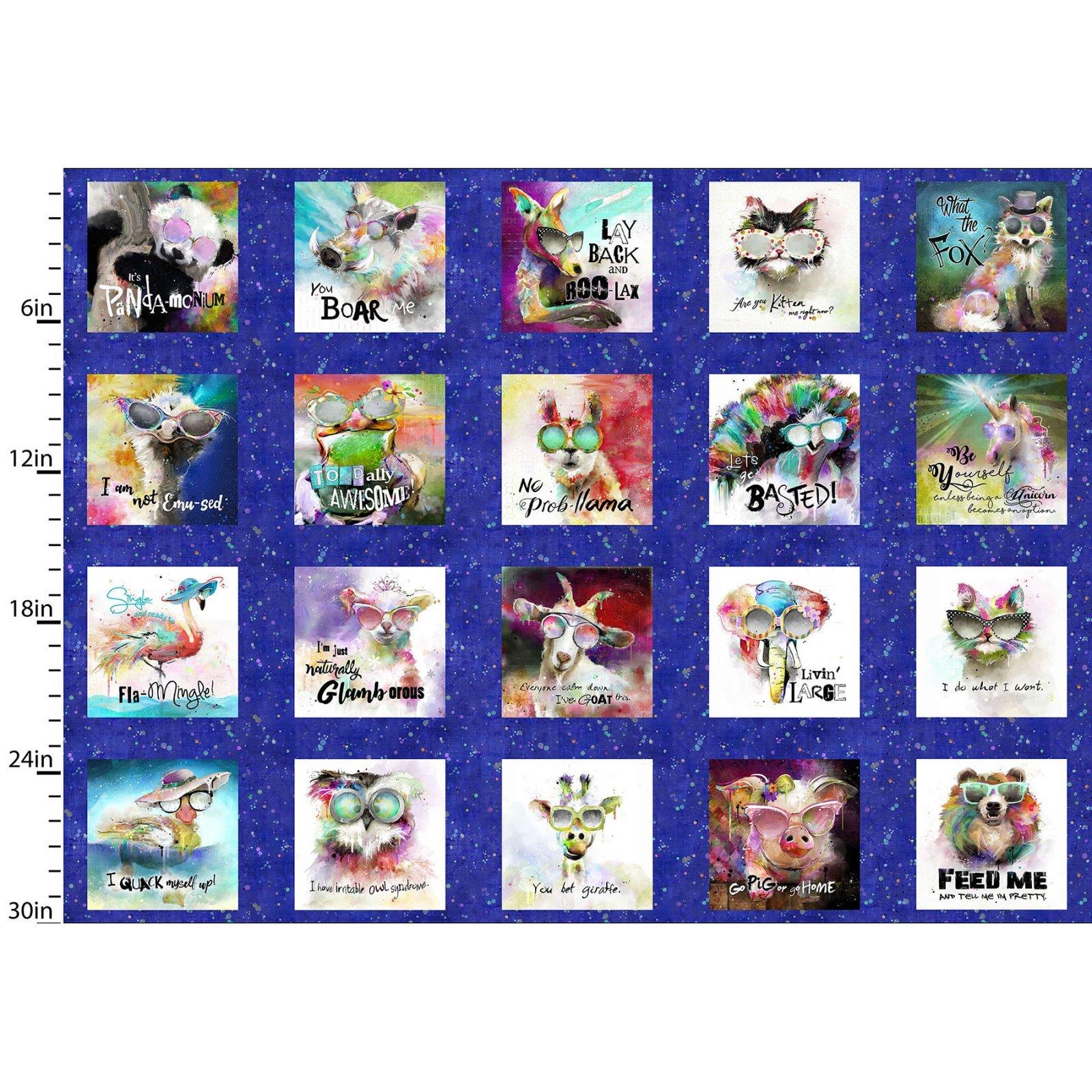 Sassier Animals 15990-BLU PANEL