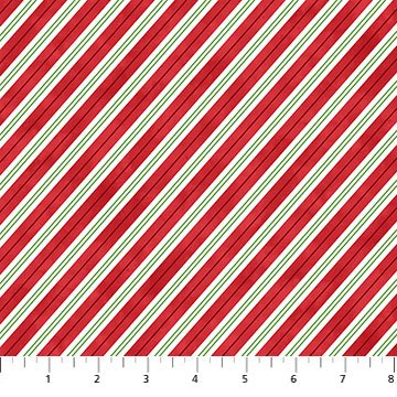 Santa Stop Here - Red Multi Candycane Strip
