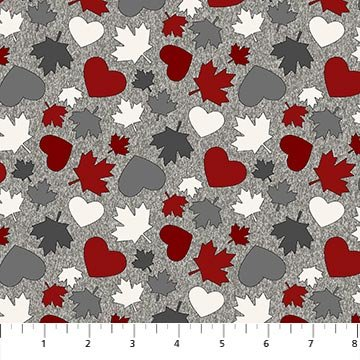 My Canada by Deborah Edwards for Northcott Maple Leaves, Hearts # 24012-92