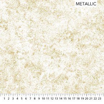 STONEHENGE White Christmas by Linda Ludovico for Northcott Stipple Metallic # 24211M-11