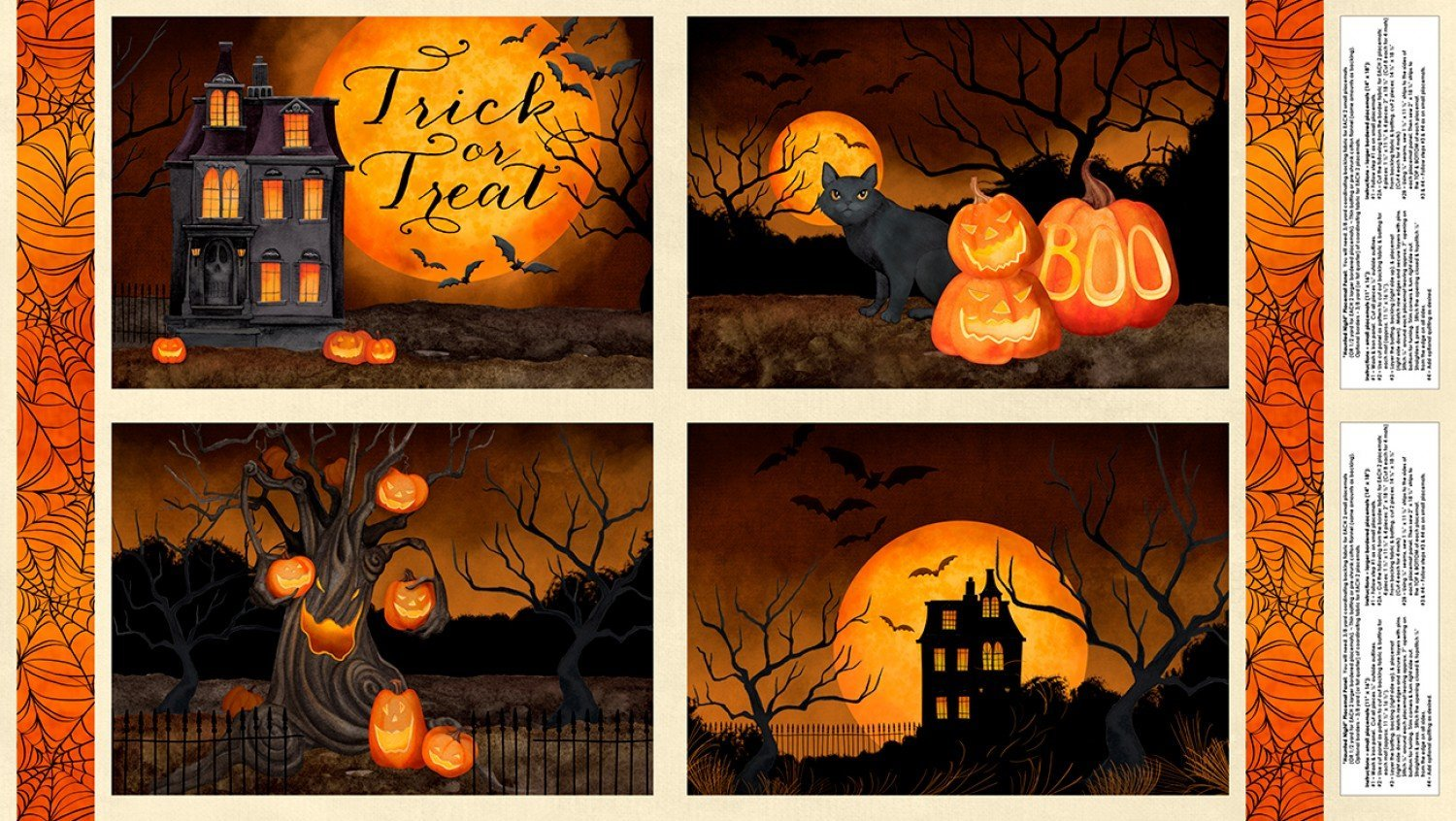 Haunted Night Placemat Panel 27586-289