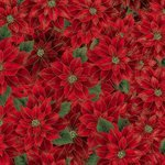 Joyful Traditions by Hoffman - Red Poinsettias #27749-161