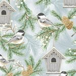 Home Sweet Home by Hoffman - Chickadees on Dusty Blue # 27754-7