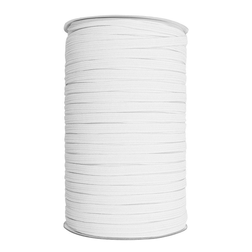 Elastic braided 6mm white 2843060R