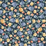 SUMMER ROSE BY PUNCH STUDIO FOR RJR FABRICS - Midnight Metallic - 30110-2