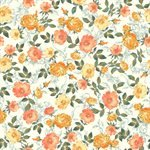 SUMMER ROSE BY PUNCH STUDIO FOR RJR FABRICS - Orange Metallic - 30110-6