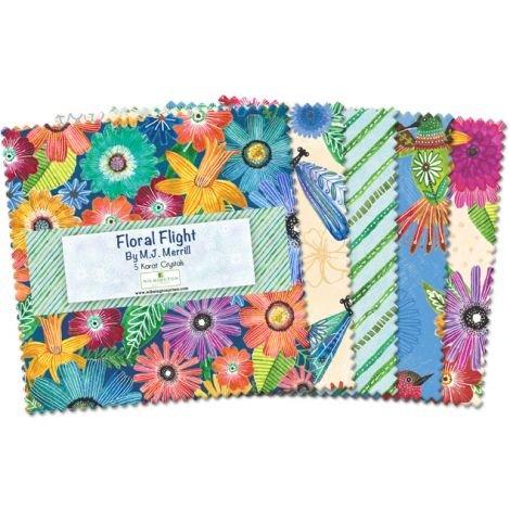 Floral Flight 5 squares