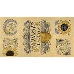 BEE GRATEFUL 24 X 44 PANEL BY DEB STRAIN FOR MODA - HONEY YELLOW # 519960-12