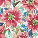 STARFLOWER CHRISTMAS BY CREATE JOY PROJECT FOR MODA - FLOWERS ON WHITE  #58480-12