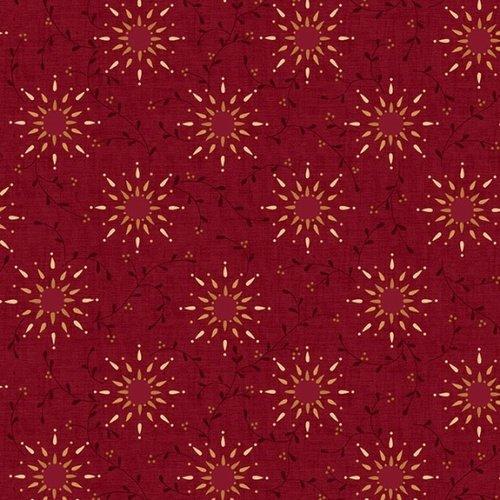 Prairie Vine Quilt Backing by Kim Diehl - Red