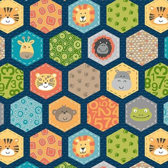 Jungle Friends Hexagons #2200B