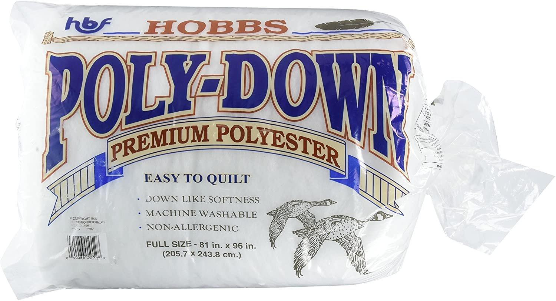 Poly-down Batting - FULL (81x96) #HBPD-81