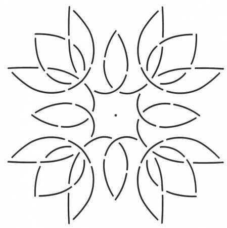Tulip Medallion Stencil
