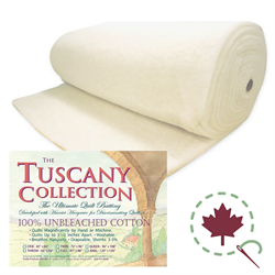 HOBBS Tuscany Unbleached 100% Cotton Batting-96 wide