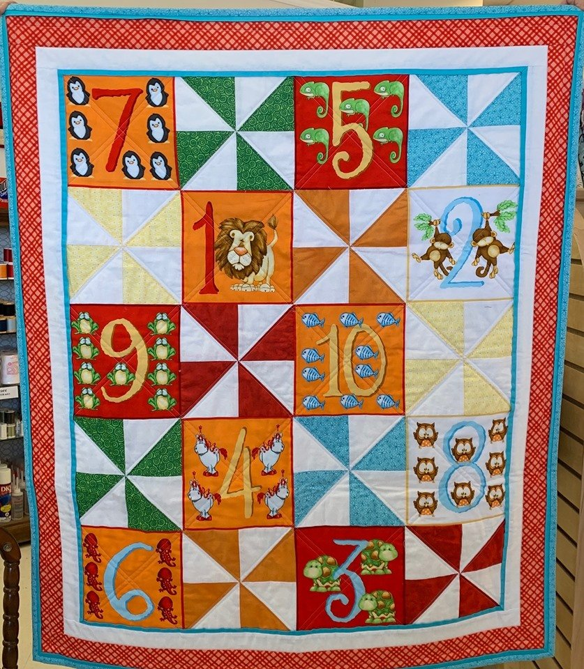 Animal Numbers Quilt