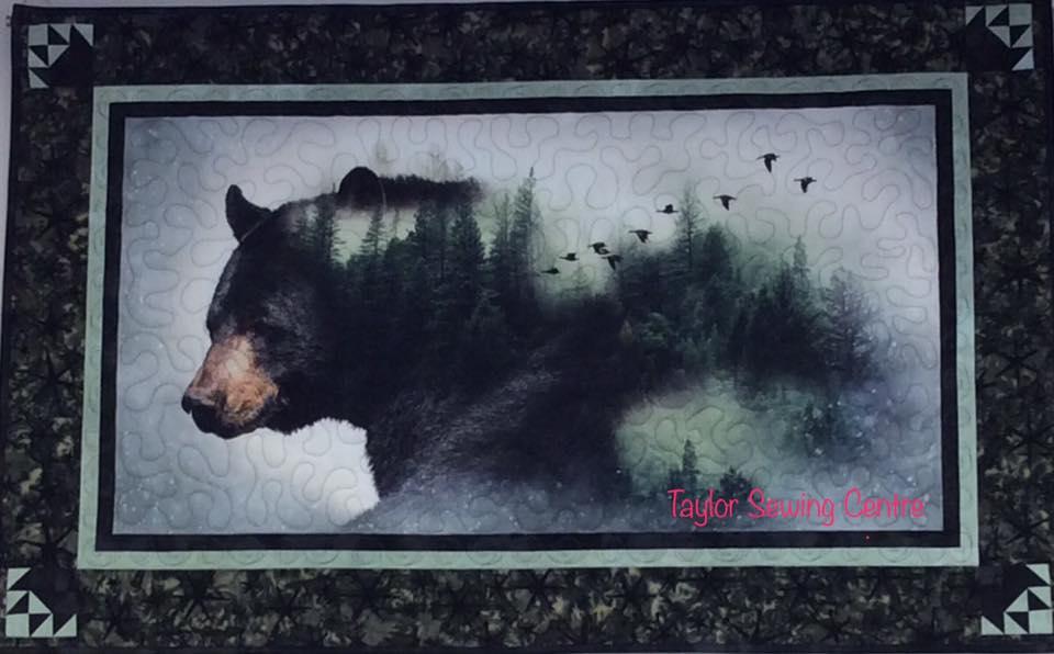 Black Bear Wall Hanging