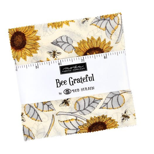 BEE GRATEFUL CHARM PACK BY DEB STRAIN FOR MODA -  # PP19960