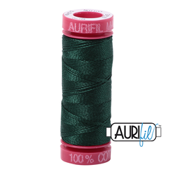 AuriFil Embroidery Floss - #MK12SP50-4026 Forest Green 12wt.