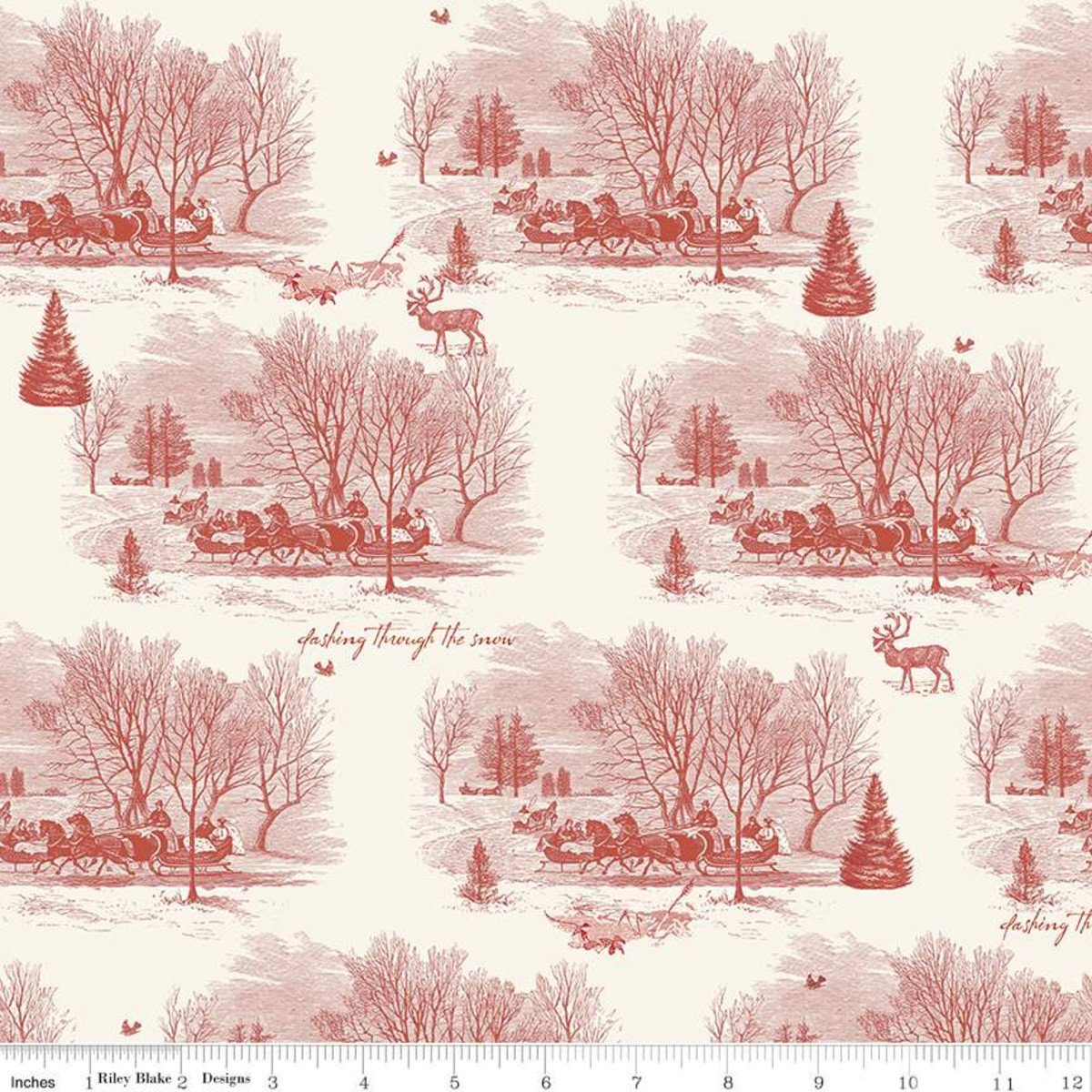 Yuletide Sleigh Toile #RBC9631/CRE