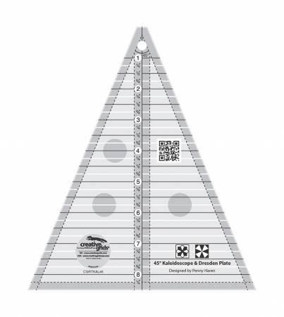Creative Grids 45 degree Kaleidoscope and Dresden Plate Ruler #CGRTKAL45