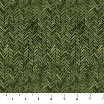 100% Cotton Flannel Herringbone Green