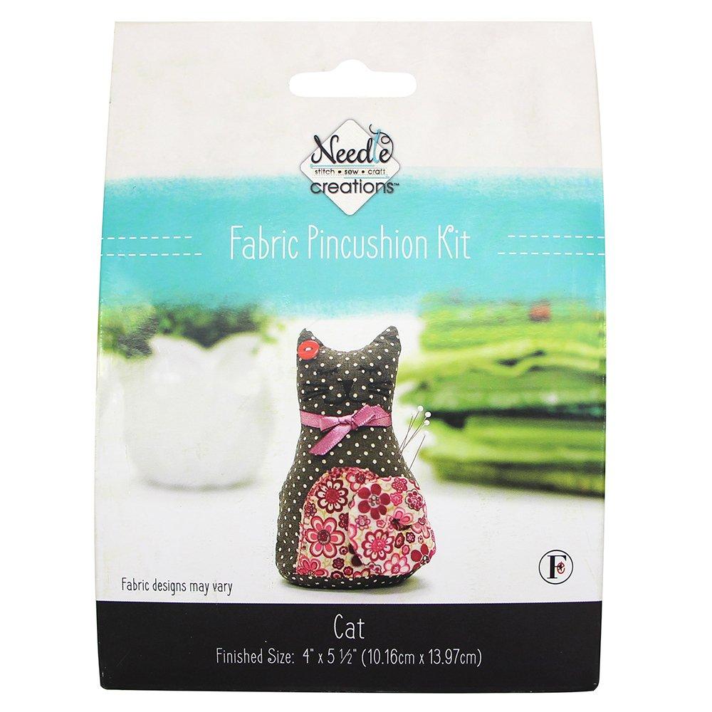 Fabric Pincushion Kit -Cat #HKITPINCUS03