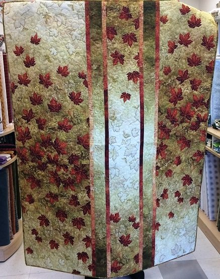 Falling Maple Leaves - Lap Quilt or Wall Hanging