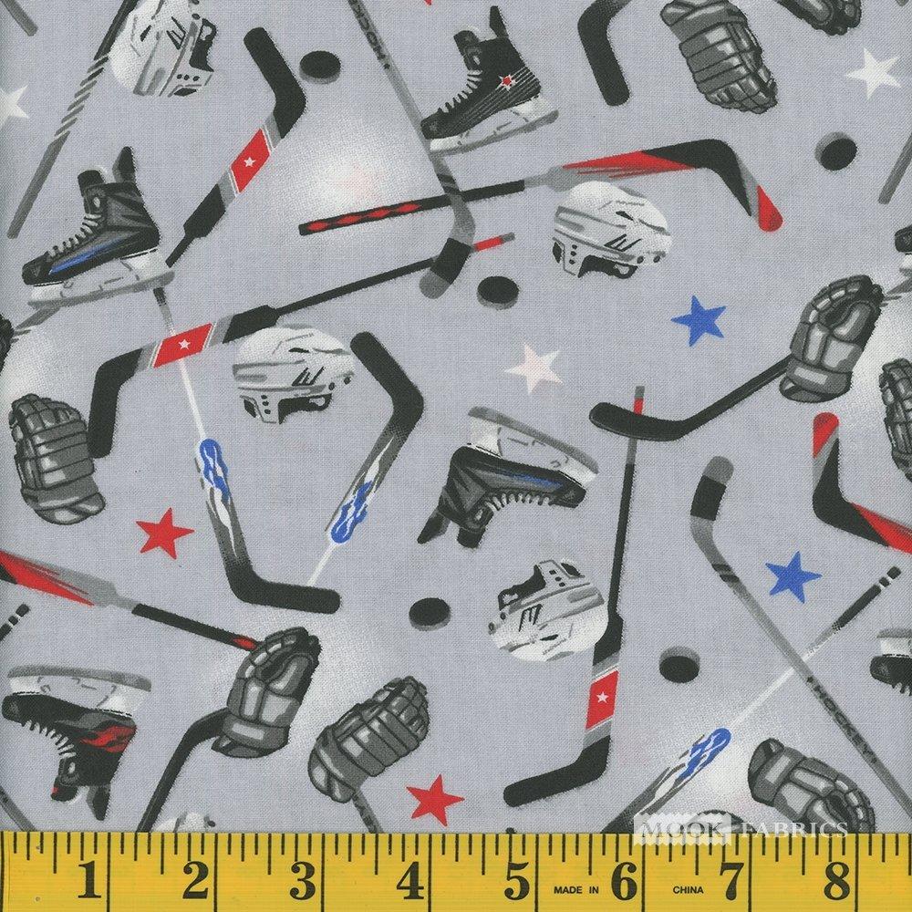 Hockey Sticks Helmets Pucks Grey