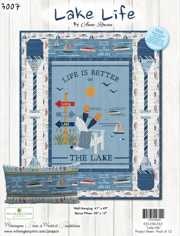 Lake Life Quilt Kit - with backing